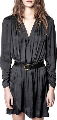 Zadig & Voltaire Reveal Long Sleeve Satin Minidress