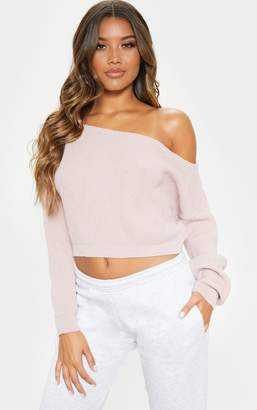 PrettyLittleThing Blush Off Shoulder Jumper