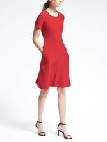 Banana Republic Red Double-Cloth Dress