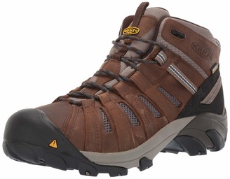 Keen Men's Cody Mid Waterproof (Steel Toe) EH-Rated Waterproof Work Industrial Boot Cascade Brown/Blue 8 2E US