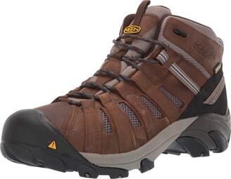 Keen Men's Cody Mid Waterproof (Steel Toe) EH-Rated Waterproof Work Industrial Boot Cascade Brown/Blue 8 D US