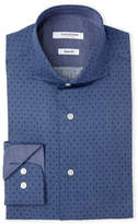 Isaac Mizrahi Printed Slim Fit Dress Shirt