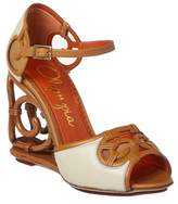Charlotte Olympia Rattan Leather Wedge.
