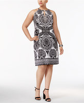 INC International Concepts Plus Size Embellished Sheath Dress, Created for Macy's
