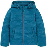 Name It Printed padded jacket with a fleece lining