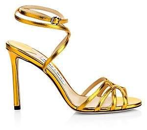 Jimmy Choo Women's Mimi Metallic Leather Sandals