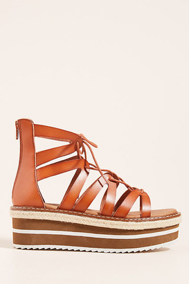 Silent D Boho Platform Sandals By in White Size 39