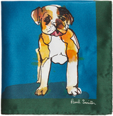 Paul Smith Dog-print silk-satin pocket square