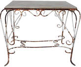 One Kings Lane Vintage French Iron & Concrete Garden Table