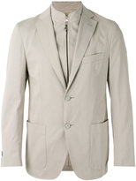 Corneliani layered blazer - men - Cotton/Spandex/Elastane/Cashmere - 48