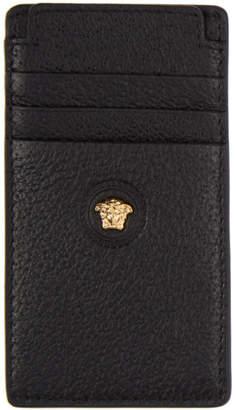 Versace Black Leather Card Holder