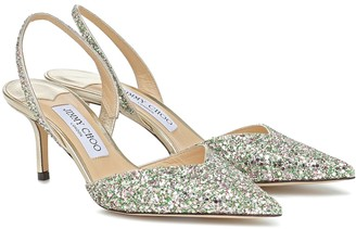 Jimmy Choo Thandi 65 glitter slingback pumps