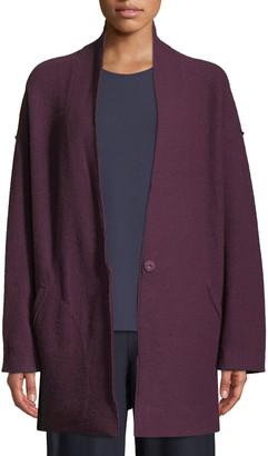 Eileen Fisher Petite Lightweight Boiled Wool Kimono Jacket