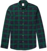 J.crew - Slim-fit Button-down Collar Checked Cotton Shirt