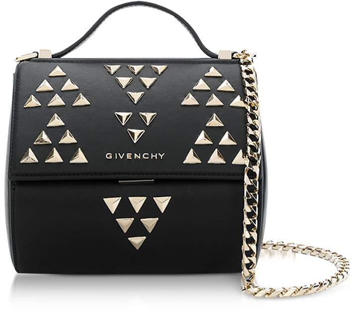 Givenchy Black Pandora Chain Mini Shoulder Bag w/Studs