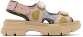 Gucci Pink Aguru Sandals