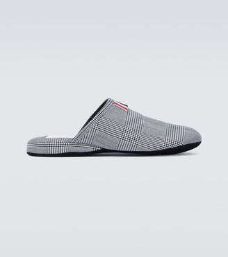 Thom Browne 4-Bar houndstooth wool slippers