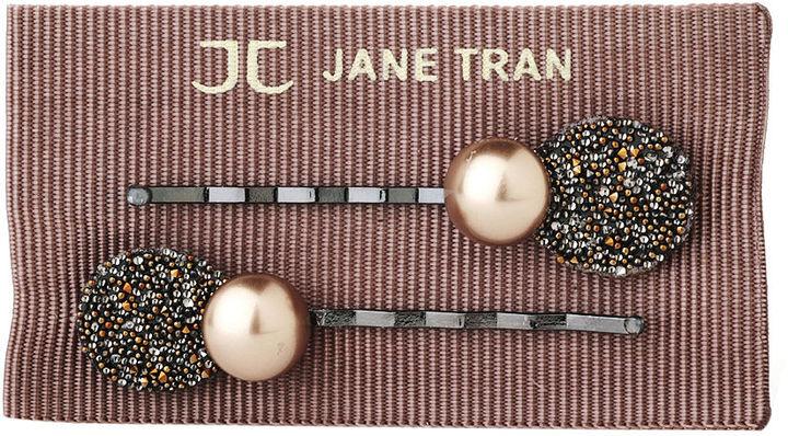 Jane Tran Shimmering Petal Pearl Bobby Pin, Copper 1 ea