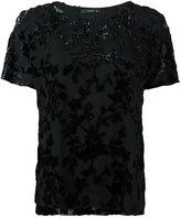 Etro velvet appliqué detail blouse
