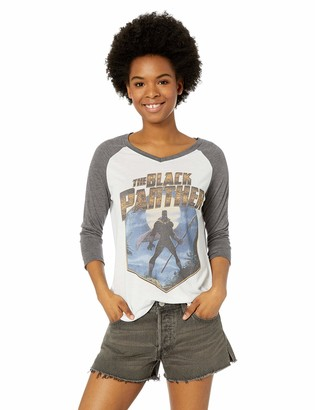 Marvel Multi/Color//Official Panther HEX Junior's Fashion Raglan x-Large