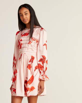 Ted Baker Pink Fantasia Floral Print Fit & Flare Dress