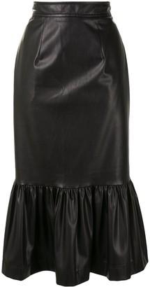 Karen Walker Dahlia fishtail pencil skirt
