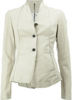 Masnada button front fitted jacket - women - Cotton/Linen/Flax/Resin - 40