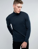 Lindbergh Sweater With Turtleneck In Navy
