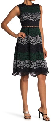 Ted Baker Inarra Colorblock Lace Dress