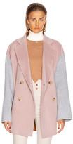 Acne Studios Odine Double Coat in Powder Pink Melange | FWRD