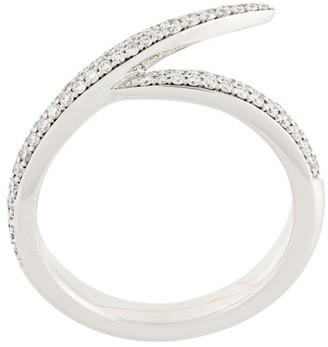 Shaun Leane 18kt white gold Single Interlocking diamond ring