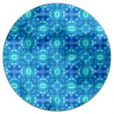 uneekee Sea Mosaic Round Tablecloth: Small Dining Room Kitchen Woven Polyester Custom Print