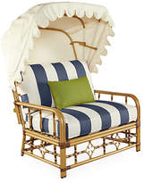 Lane Venture Mimi Cuddle Chair & Canopy - Navy Stripe Sunbrella