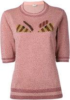 Fendi bumblebee sweatshirt - women - Polyamide/Polyester/Wool - 38