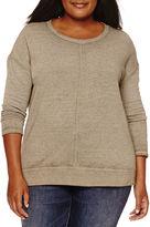 A.N.A a.n.a Long Sleeve Sweatshirt-Plus