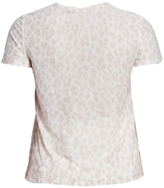 A.L.C. Bambina Leopard Print Tissue T-Shirt
