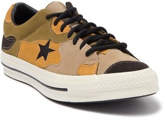 Converse One Star Vintage Patchwork Camo Suede Sneaker