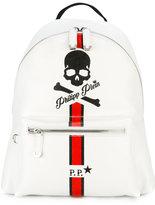 Philipp Plein skull and stripe backpack