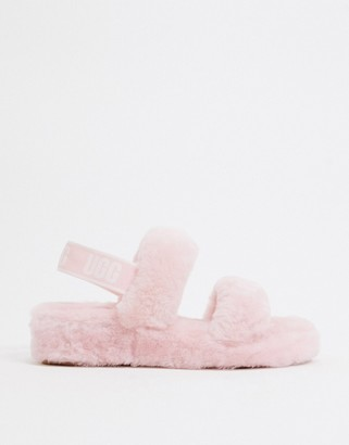 UGG Oh Yeah slide sandals in light pink