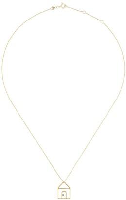 ALIITA 9kt yellow gold Casita Zafiro Azul necklace