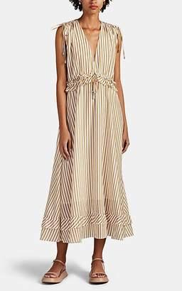 Robert Rodriguez Women's Mariel Striped Cotton Voile Dress - Gold