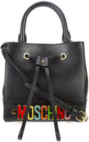 Moschino logo shoulder bag - women - Leather - One Size