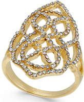 INC International Concepts I.N.C. Gold-Tone Pavé Statement Ring, Created for Macy's