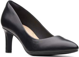 Clarks Calla Rose Wide Fit Heeled Shoe
