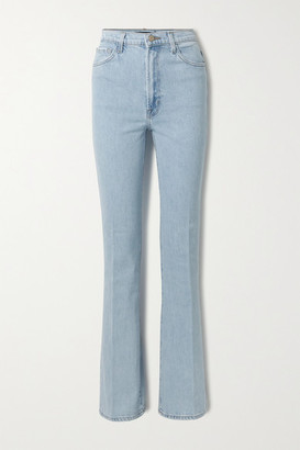 J Brand 1219 Runway High-rise Flared Jeans - Light denim