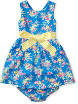 Ralph Lauren Girl Floral Twill Dress & Bloomer