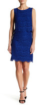 Anne Klein Sleeveless Lace Popover Shift Dress
