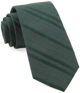 The Tie Bar Hunter Green Wool Path Stripe Tie