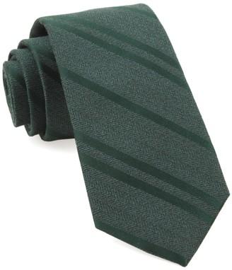 Tie Bar Wool Path Stripe Hunter Green Tie