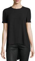 BCBGMAXAZRIA Short-Sleeve Tailback Top